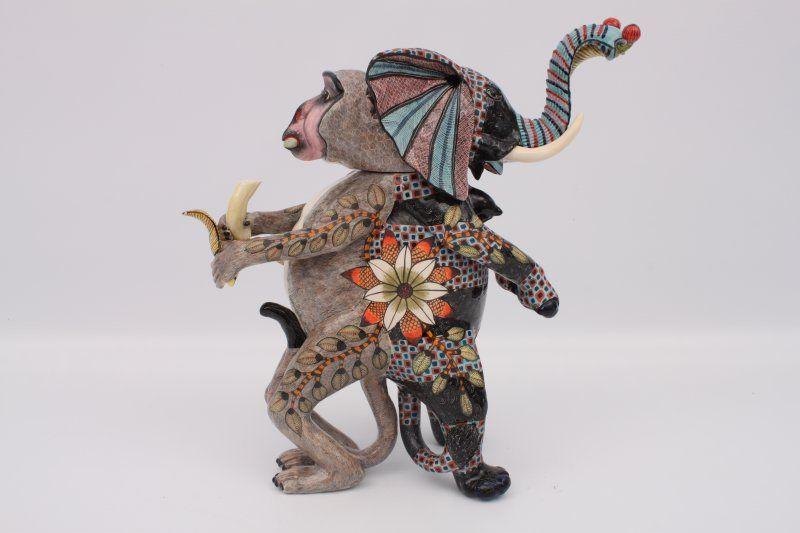 Ardmore Elephant Monkey Tureen