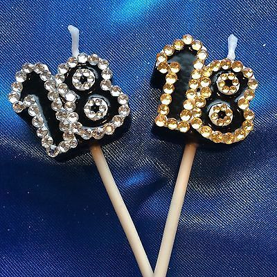 18th #birthday candle diamante #silver or gold eighteenth cake topper #party,  View more on the LINK: 	http://www.zeppy.io/product/gb/2/121972240840/