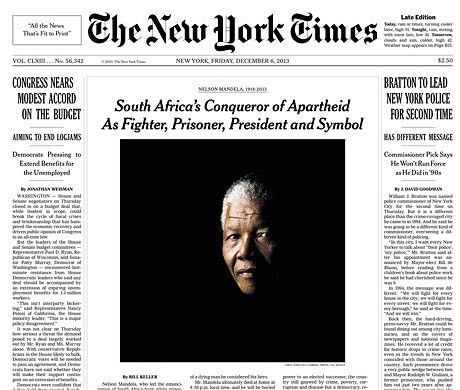 Nelson Mandela death: the world's front pages | Nelson mandela ...