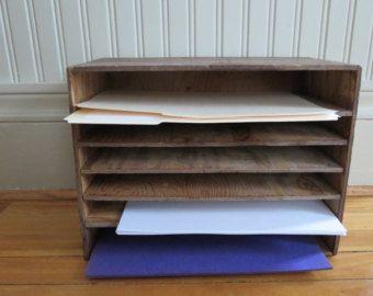 Cij Sale Wooden File Box Mail Box Letter Organizer Desktop