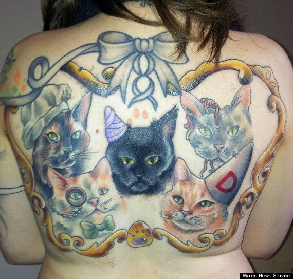 elle se fait tatouer ses chats décédés | art, insolite et autres