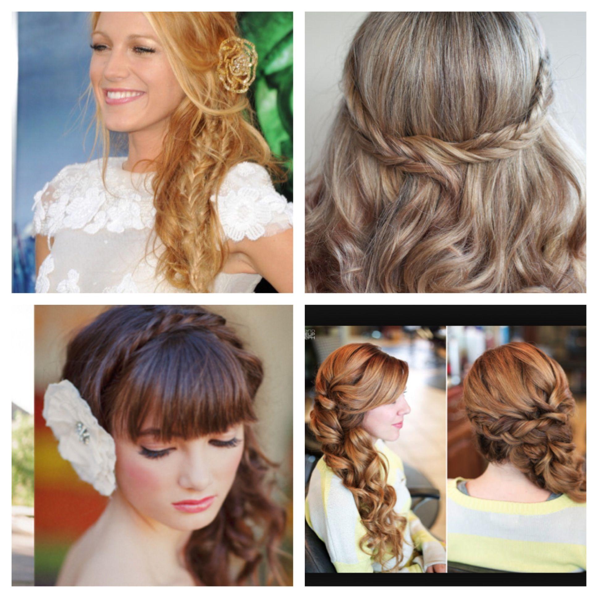 Bridesmaid hairstyles wedding pinterest hair styles