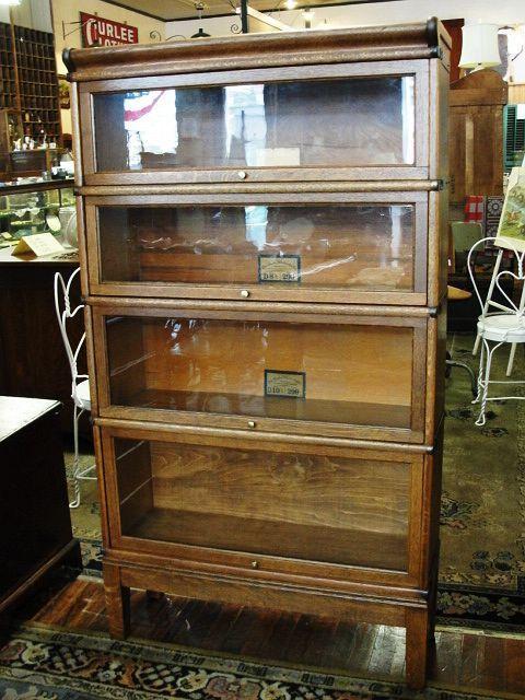 Quartersawn Oak Globe Wernicke Stacking Barrister Bookcase