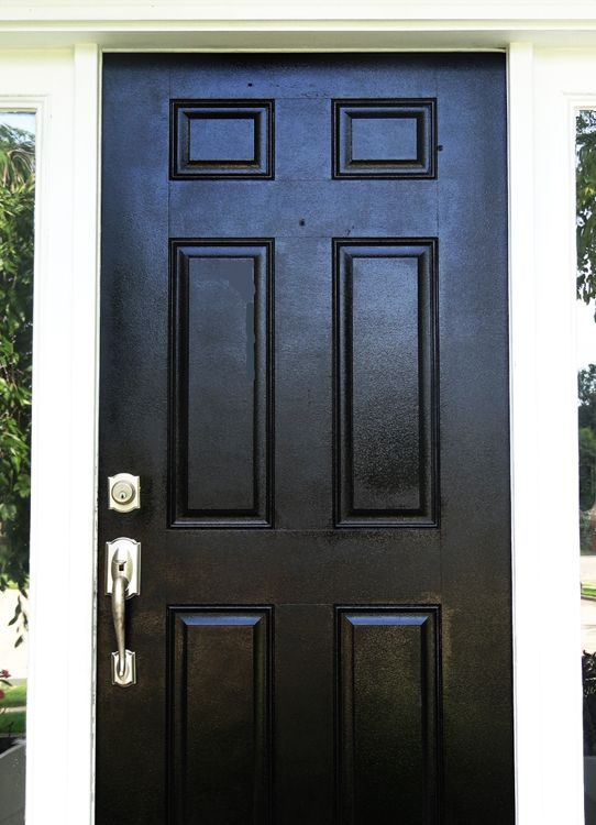 How To Paint Your Front Door Easy And Inexpensive Painted Front