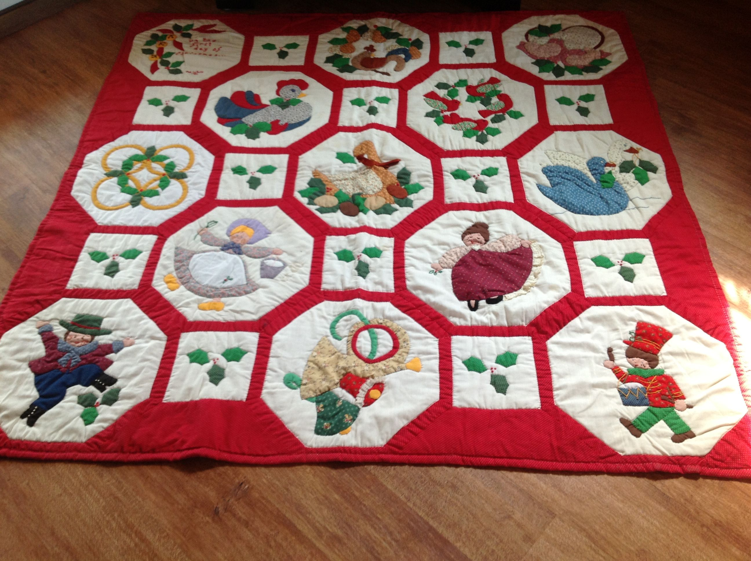 My 12 Days Of Christmas Quilt Christmas Quilts 12 Days Of Xmas 12 Days Of Christmas