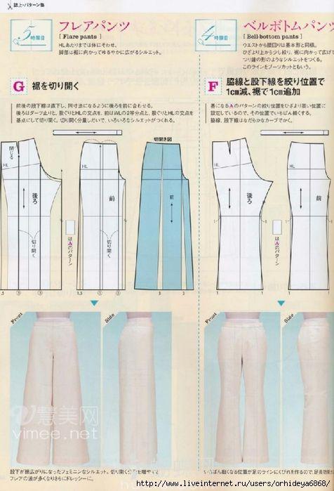 plusueurs modeles de pantalons avec patrons(livre russ   costuras ...