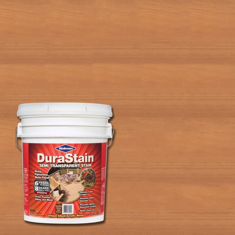 Wolman Durastain Natural Cedar Semi Transpa Exterior Wood And Deck Stain