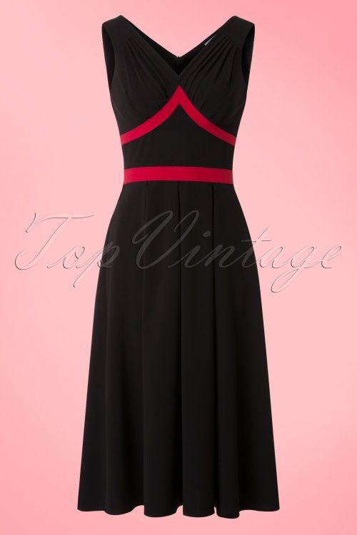Miss Candyfloss Black Red Swing Dress 102 10 18044 20160411 0008W