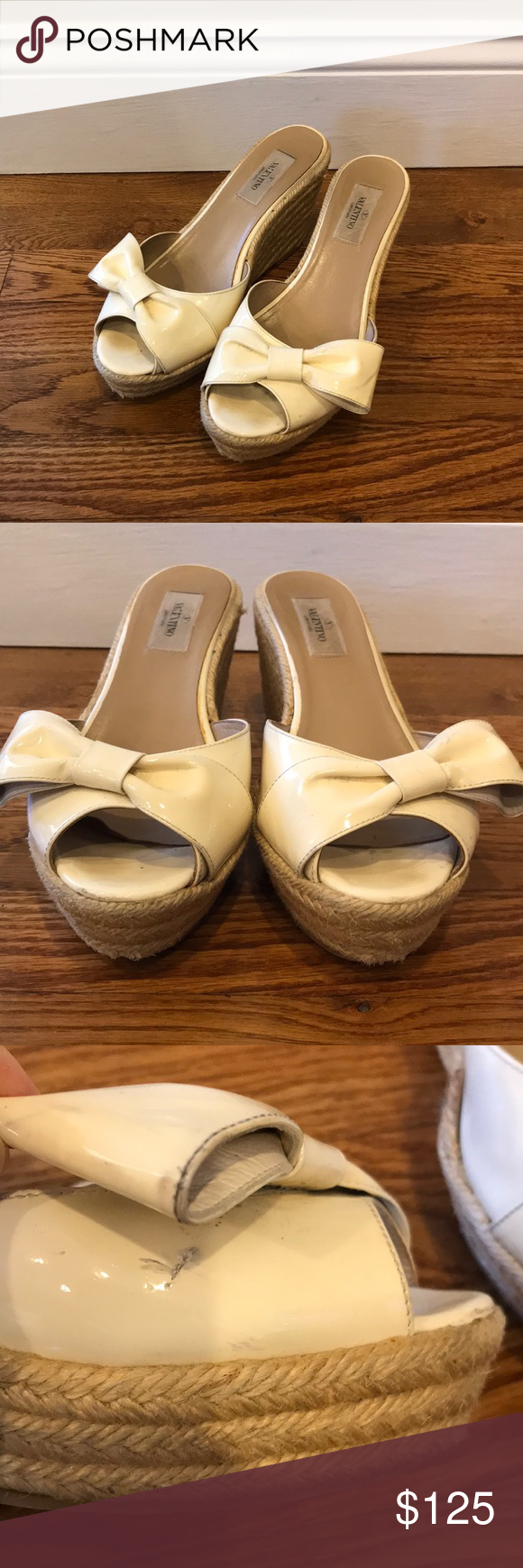 a23a7d10f93 Valentino Garavani Espadrille Bow Wedge Sandals All of my items are 100%  authentic. Size