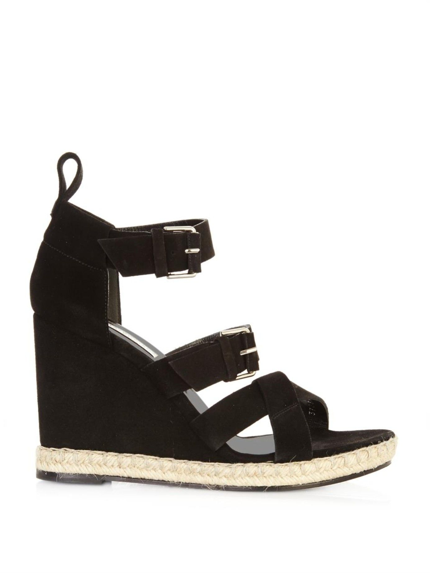 Balenciaga Multistrap Suede Wedges outlet for sale cheap for sale discount great deals SE4kxBd