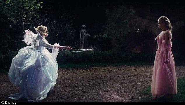 Making Magic Happen The Fairy Godmother Transforms Cinderella 39 S Cinderella 2015 Cinderella Fairy Godmother New Cinderella Movie