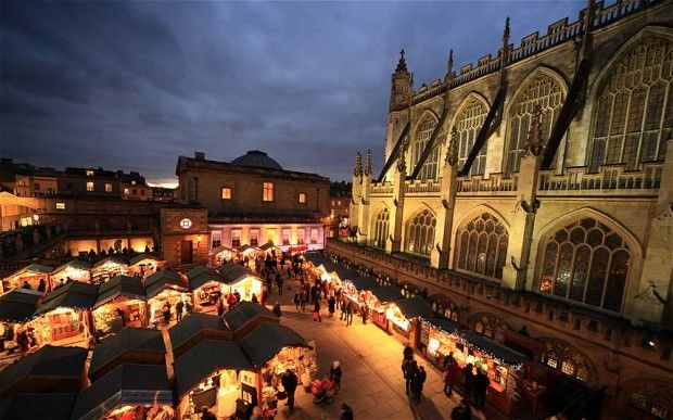 Bath has one of the largest Christmas Markets in Britain
