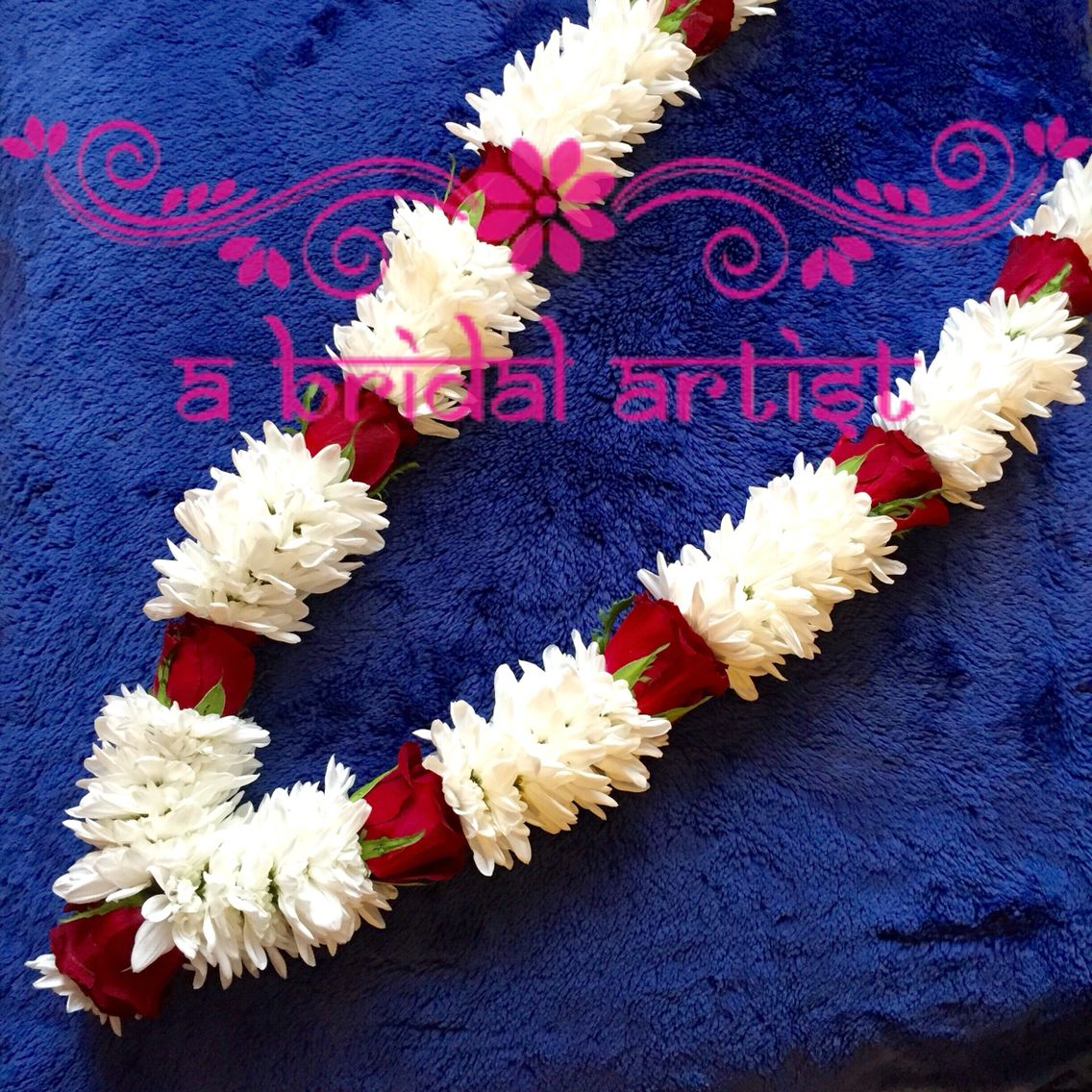 Marvelous Exquisite Designer Wedding Garland (jaimala / Haar / Varmala) Made From Fresh  Flowers.