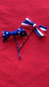 July 4th Itty-bitty bows