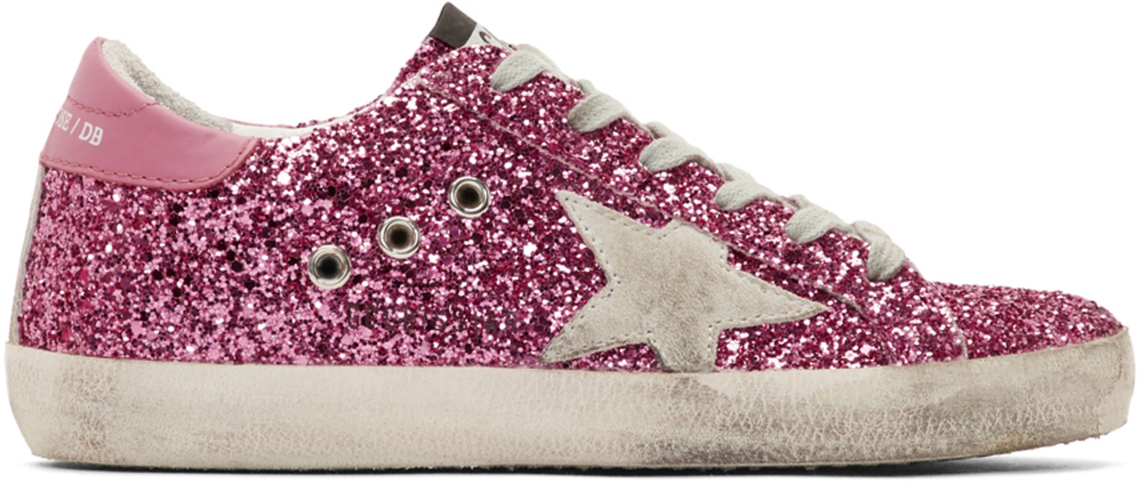 51a5bf716c751 Golden Goose - Pink Glitter Superstar Sneakers | bday in 2019 ...