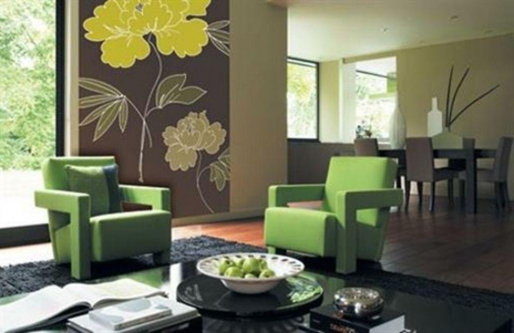 moderne wohnzimmer tapeten frische blumenmuster moderne tapete - farbideen wohnzimmer braun