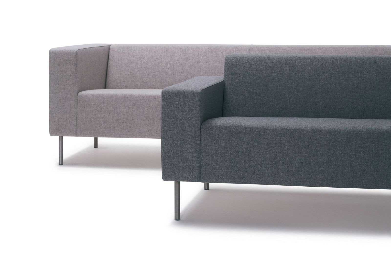 18 Grey Reception Sofa