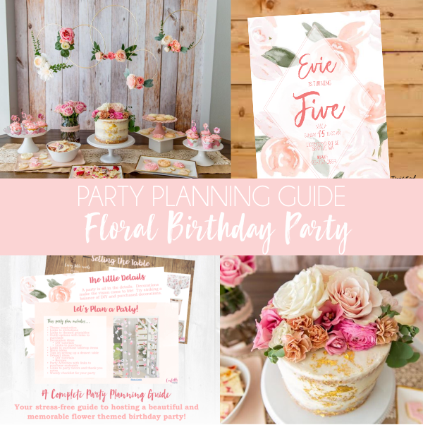 In A Field Of Roses She Is A Wildflower A Flower Themed 5th Birthday Party Flower Birthday Party Floral Birthday Invitations Wildflower Birthday Party