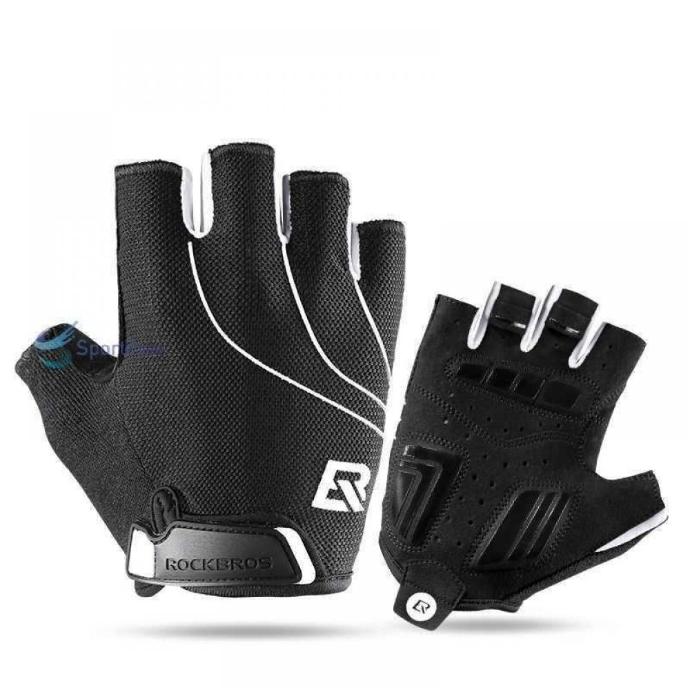 Cycling Gloves ROCKBROS Outdoor Sports Gloves Breathable Cycling Gloves Non-Slip Shockproof Riding MTB Bicycle Bike Gloves