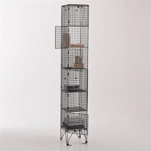 colonne de rangement 4 étagères, métal, rakke la redoute