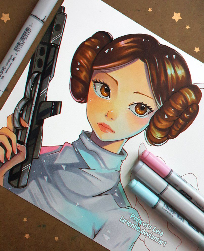 Princess leia wip by larienne on deviantart artist - Dessin stars wars ...