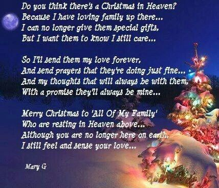 Family in heaven at christmas time | Loved one in heaven ...