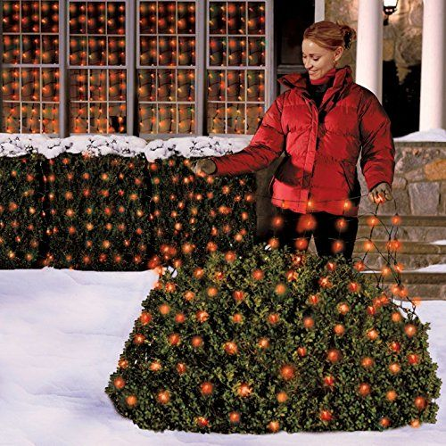 Holiday Essentials 150 Christmas Net Lights / Tree Wrap - Red Bulbs
