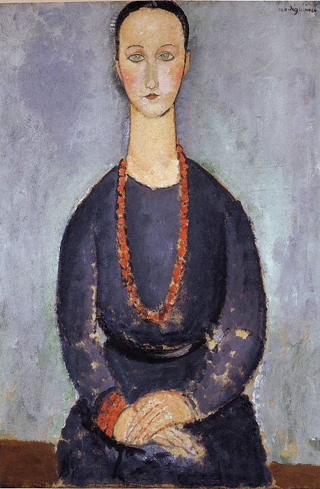 Amedeo Modigliani Woman With A Red Necklace