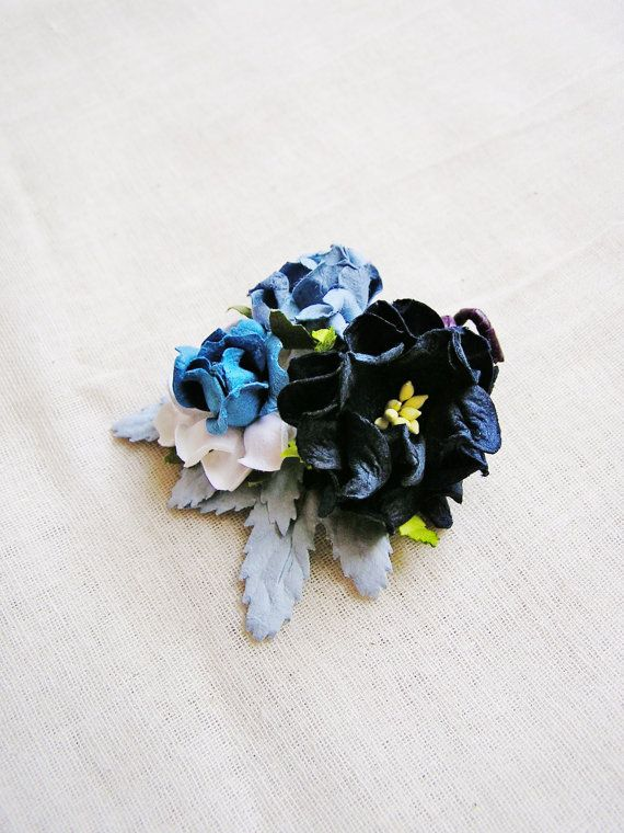 Indigo Blue Mixed bunch Vintage style Millinery by thegildedbee, $3.89