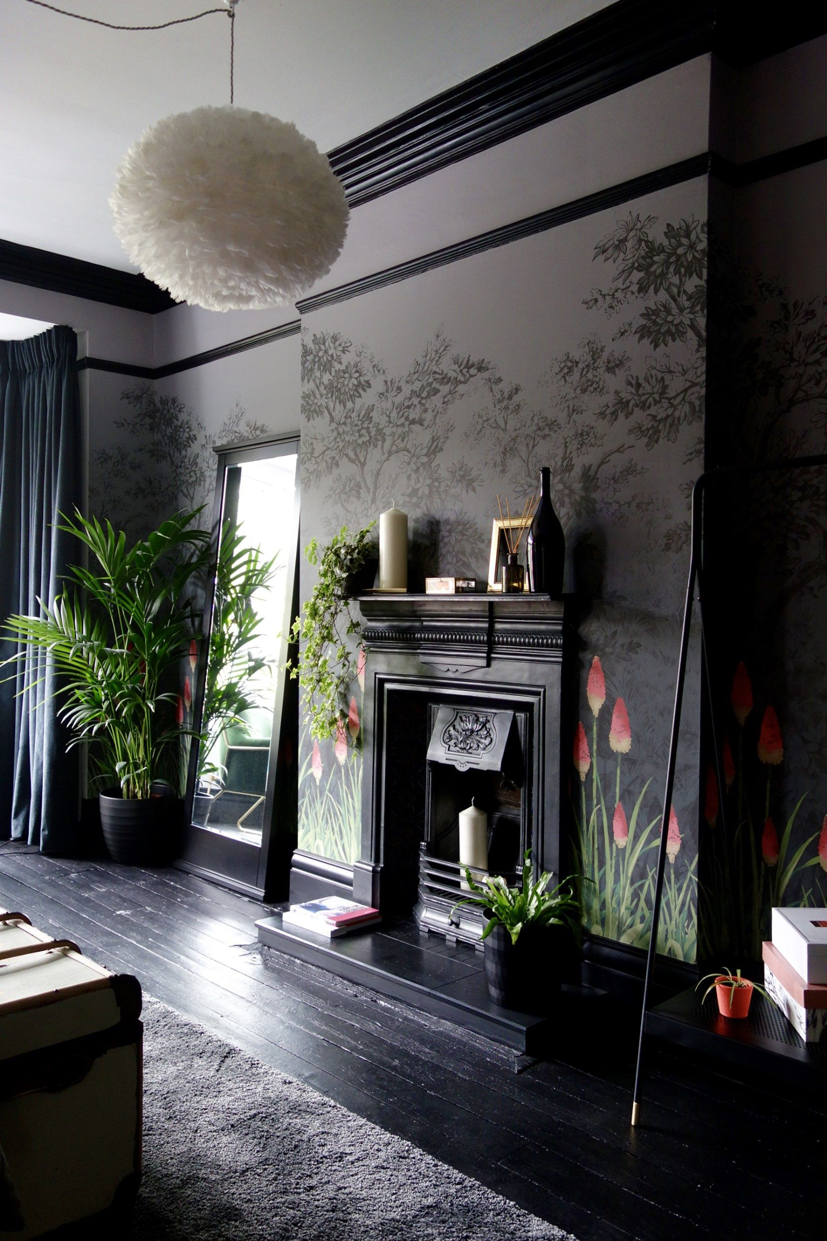 Dark hallway wallpaper  Final Reveal  The Upper Brook Street Bedroom Project by  Pinterest