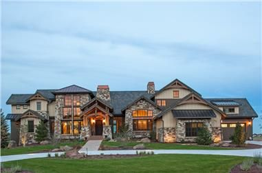 A Texas Style Luxury Home Plan Is Perfect For A Large Multigenerational Family To Live Together Luxury House Plans Architectural Design House Plans House Plans