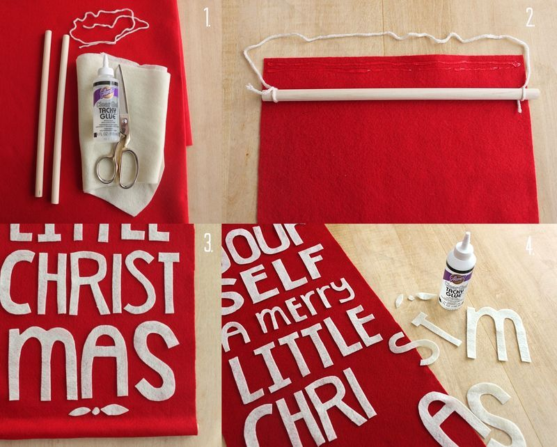 Have yourself a merry little christmas or any other banner diy diy felt holiday banner solutioingenieria Images