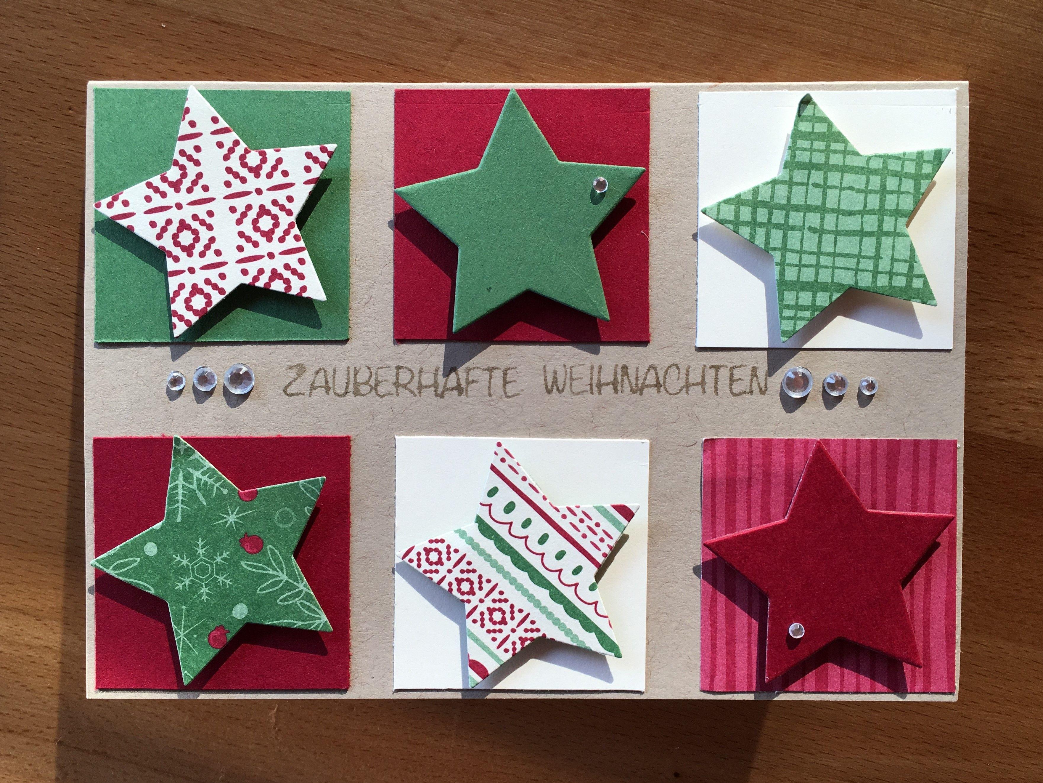Weihnachtskarte Selbst Gemacht, Sterne