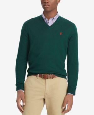 5948c4f83 Polo Ralph Lauren Men s Merino Wool V-Neck Sweater - College Green ...
