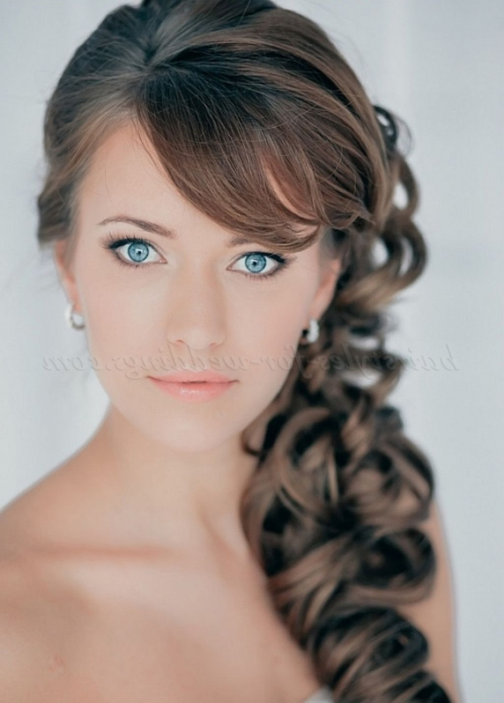 curly side ponytail wedding hairstyles | hair | pinterest | curly