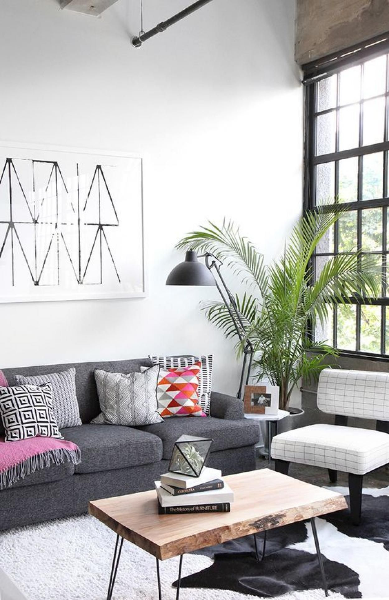 Unusual Apartment Decor Coming From The Awesome Industrial Style Industrial Decor Living Room Industrial Apartment Decor Apartment Decor