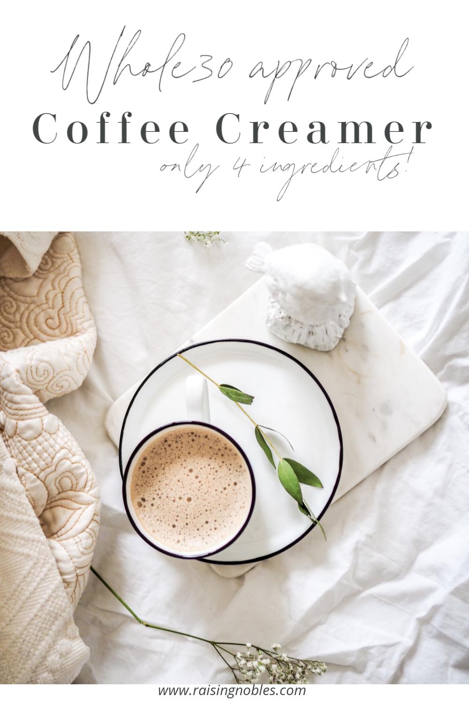 Whole30 Coffee Creamer Sugar Free & Dairy Free Coffee