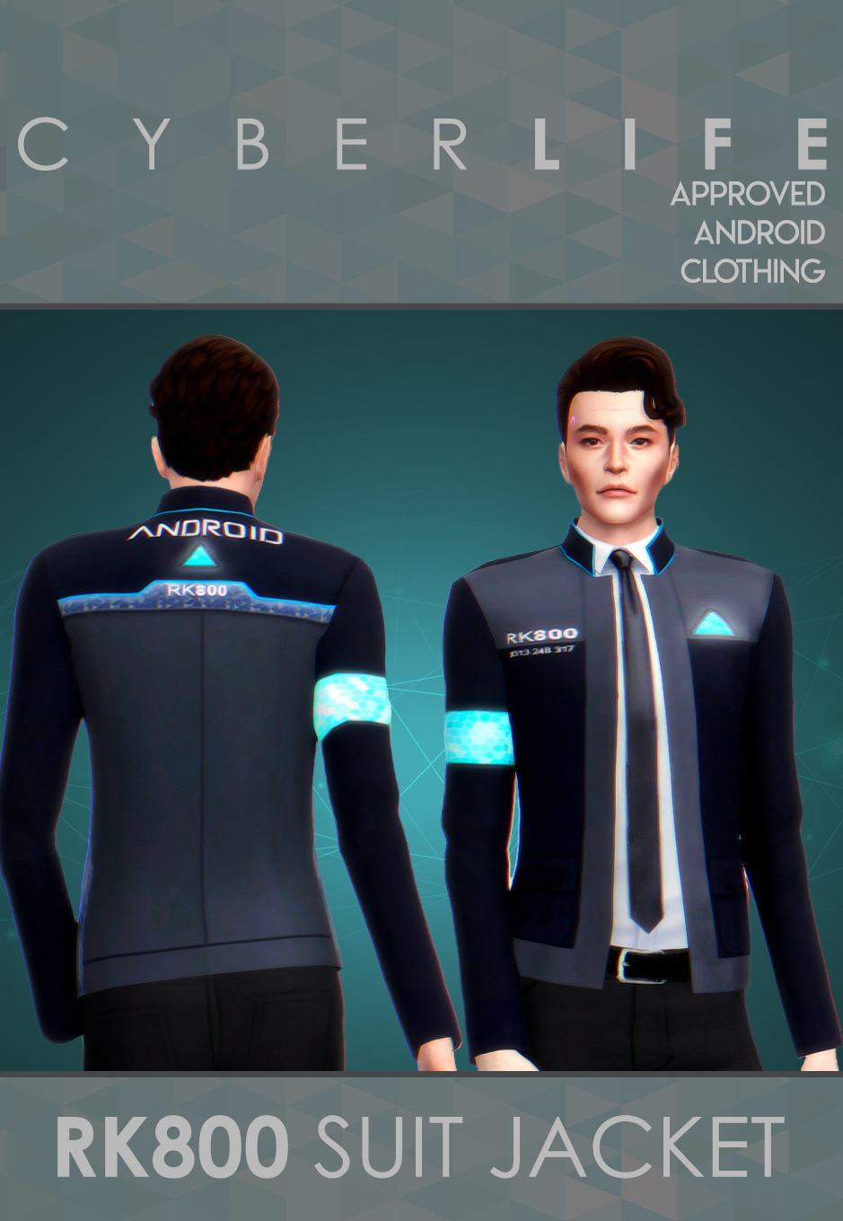 Detroit : Become Human RK800 /Connors Suit Jacket | Sims 4