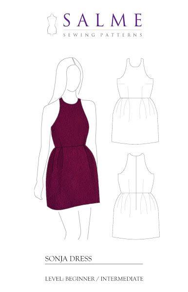 Salme Sewing Patterns: Free sewing pattern - Sonja dress | dress ...