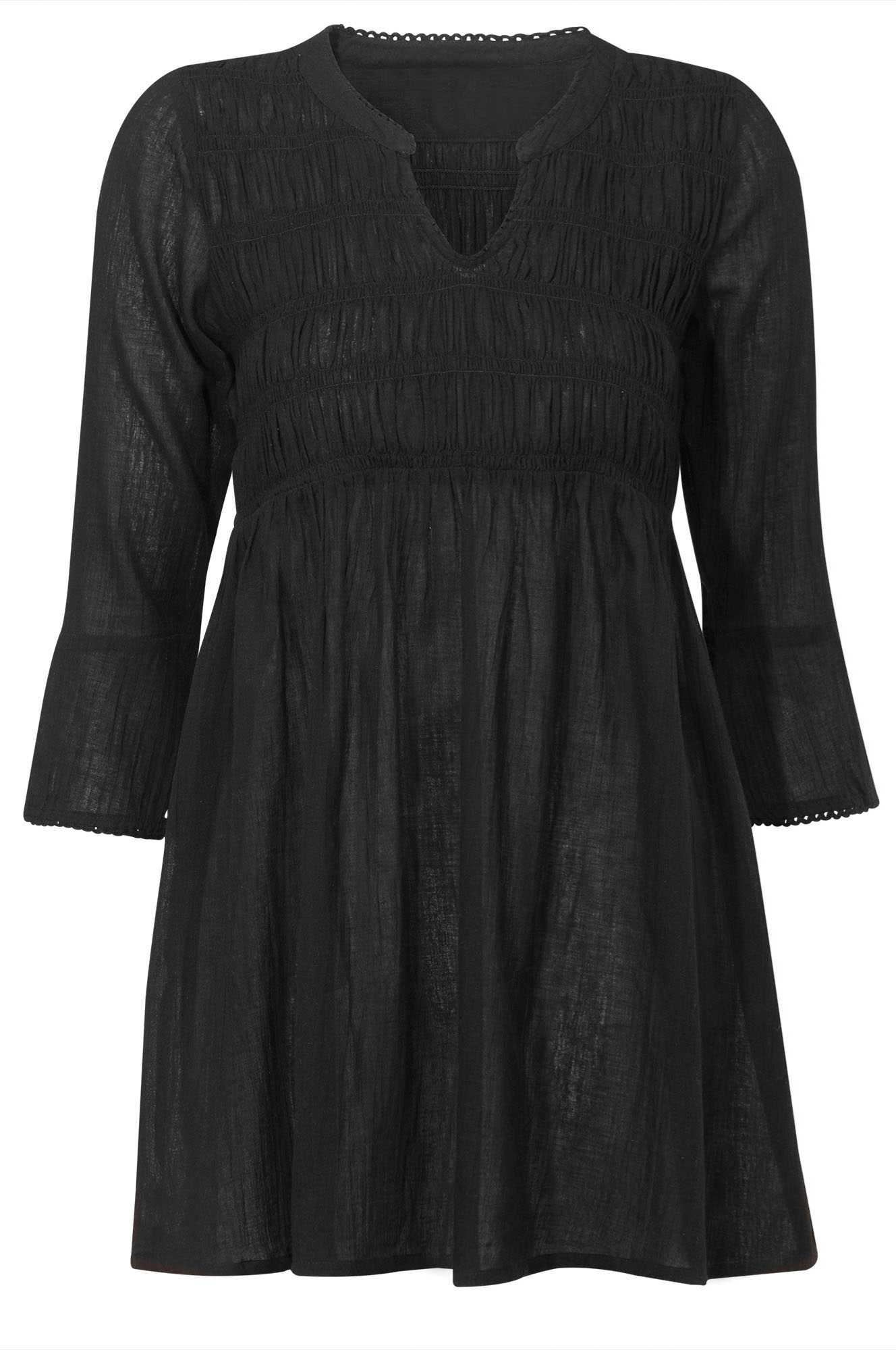 3d793967779e6 Smocked Empire Waist Tunic by ellos - Women s Plus Size Clothing ...