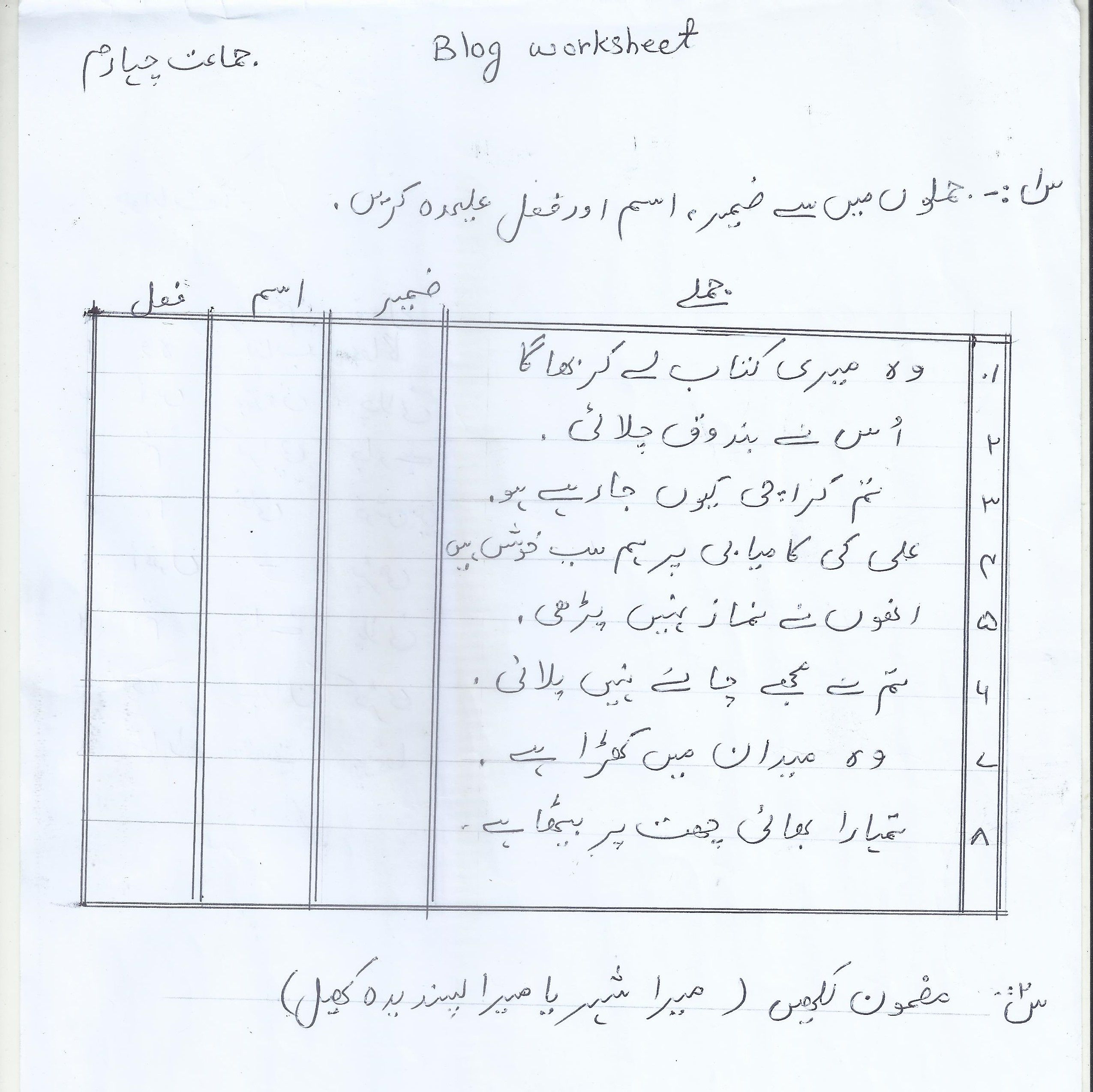 urdu-bw-year-4.jpg (2550×2548)   Grammar worksheets [ 2548 x 2550 Pixel ]