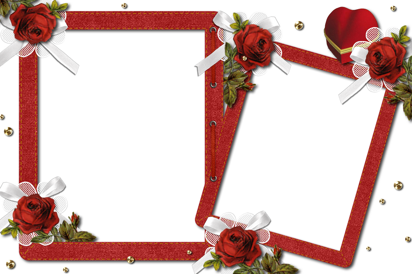 Double Romantic Transparent Photo Frame With Roses Free Photo Frames Christmas Frames Photo Frame