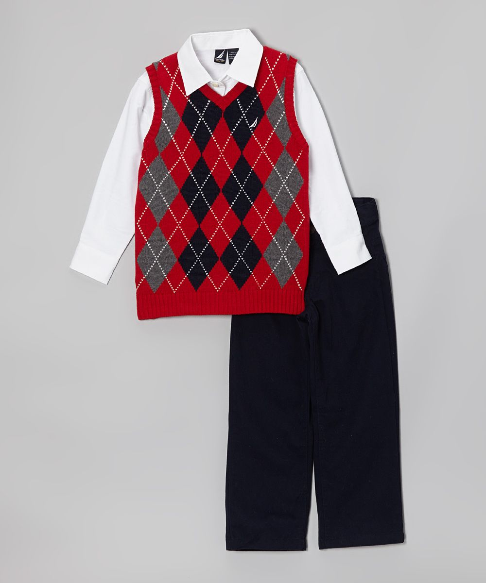 bd821402f Cherry Argyle Sweater Vest Set - Toddler   Boys
