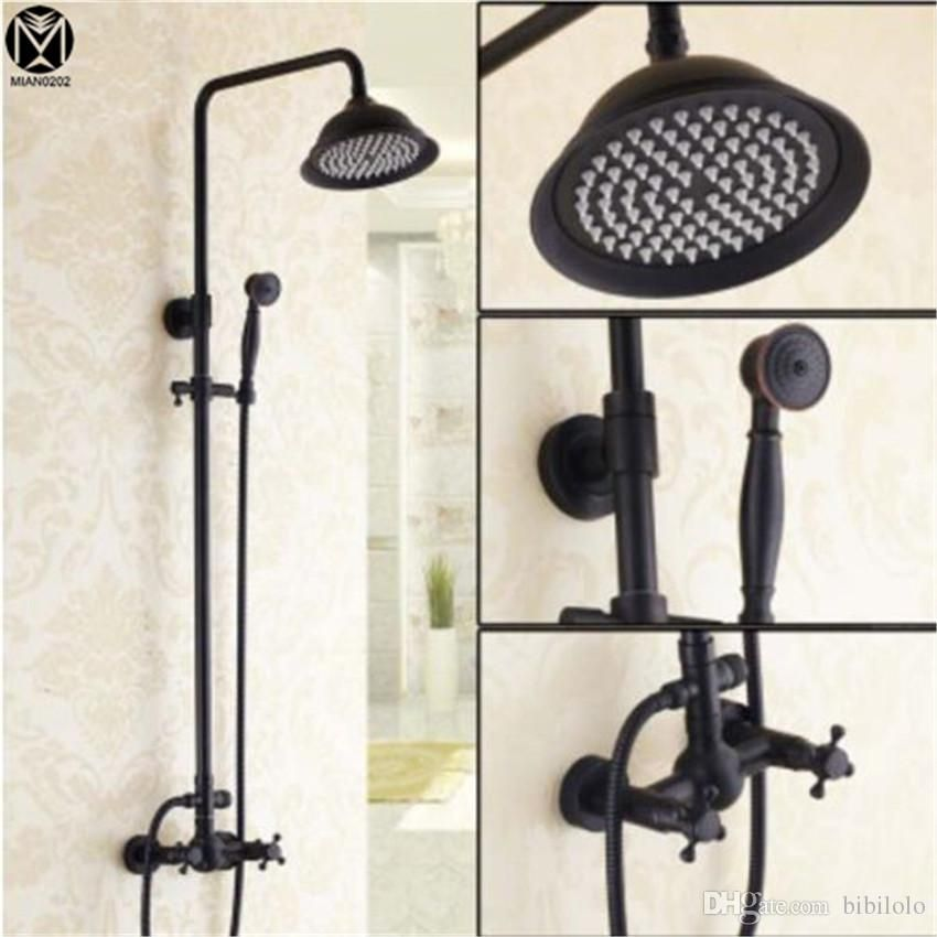 Bathroom Luxury Shower faucet set European style Retro Black Bronze ...