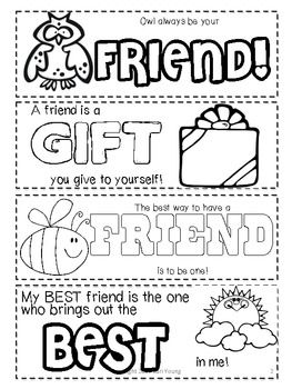 Friendship Printable Bookmarks To Color Friendship Printables Coloring Bookmarks Friendship Lessons