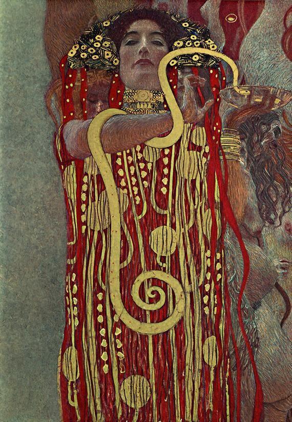 Gustav Klimt Hygieia Art Nouveau decor vintage wall art   Etsy