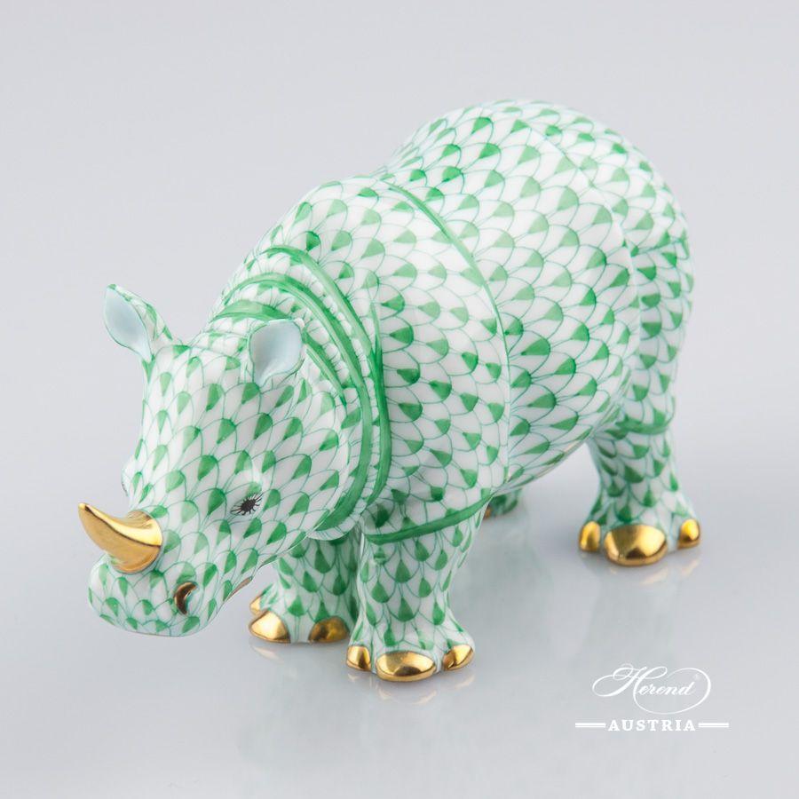 Rhino - Herend figurines, Herend porcelain animals