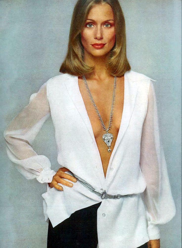 Lauren hutton by avedon vogue us 1973 the power of the white shirt pinterest 70er sch ne - 80er damenmode ...