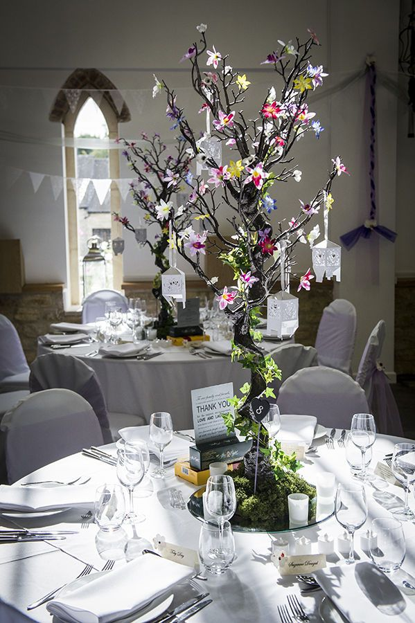 13x 120cm Enchanted Forest Manzanita Tree Led Ivy And Flower
