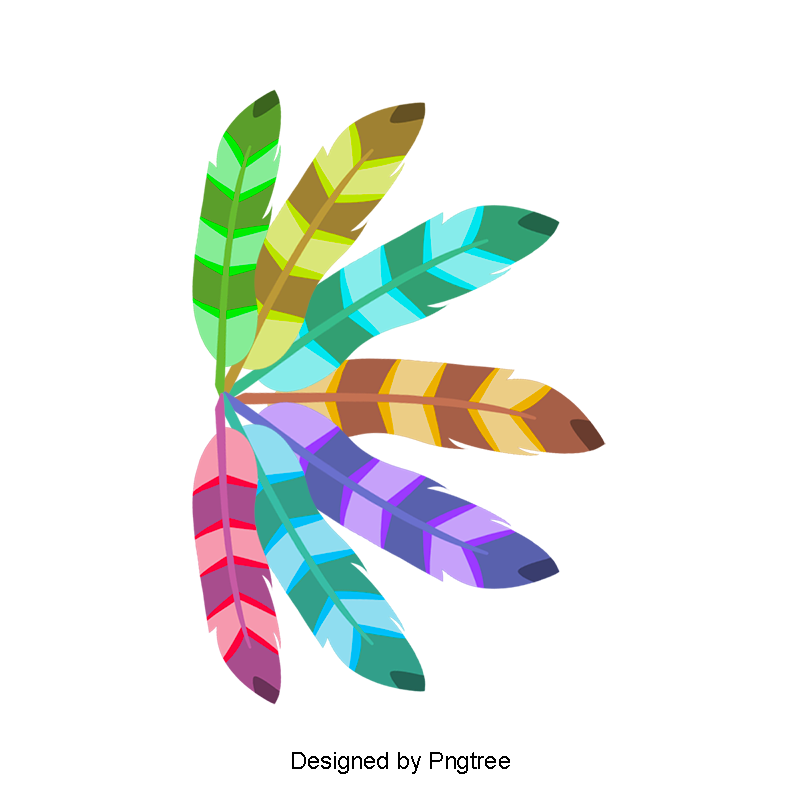 Colored Indian Feather Png And Psd Indian Feathers Feather Clip Art